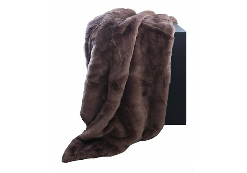 CLAUDI Chique Faux fur plaid Brown