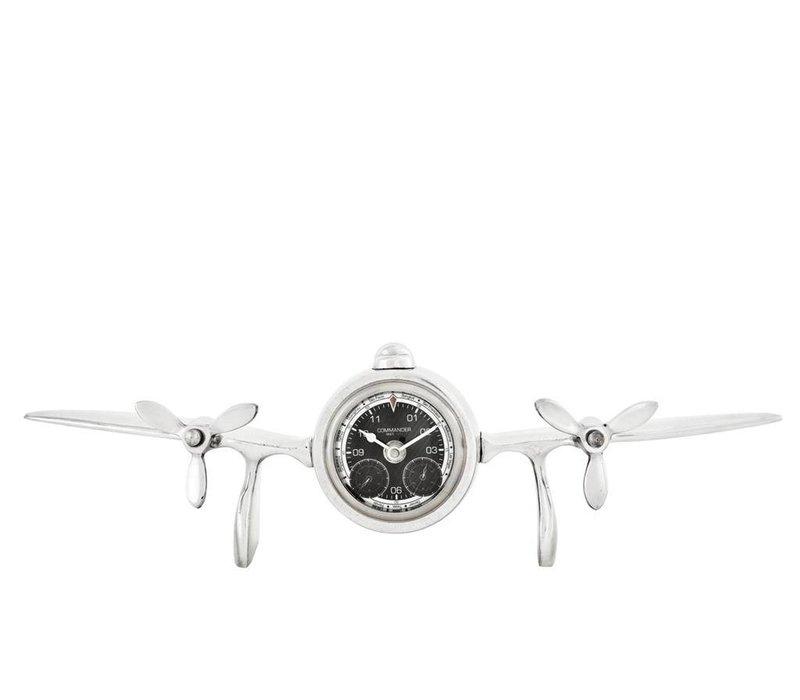Desk clock 'Commander' in extraordinary style 46 cm
