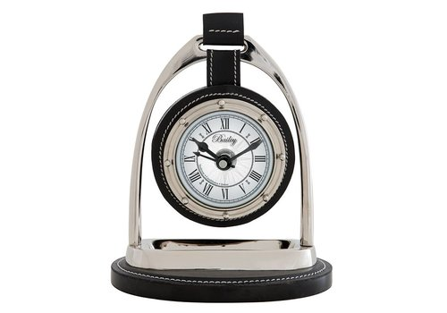 Eichholtz Desk clock 'Bailey Equestrian' Nickel