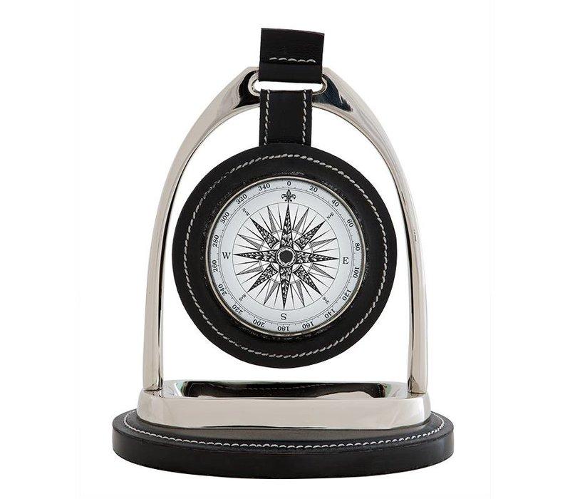 Desk clock 'Bailey Equestrian'  in classic style 17 cm