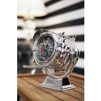 Desk clock 'Royal Master' in modern style 26 cm