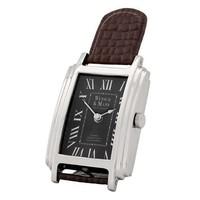 Desk clock 'Wunsch & Mann'  in handsome style 12 cm