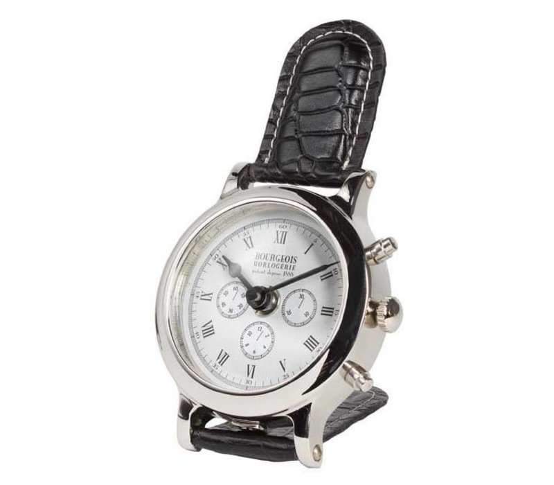 Desk clock 'Bourgeois'  in luxury design 9 cm