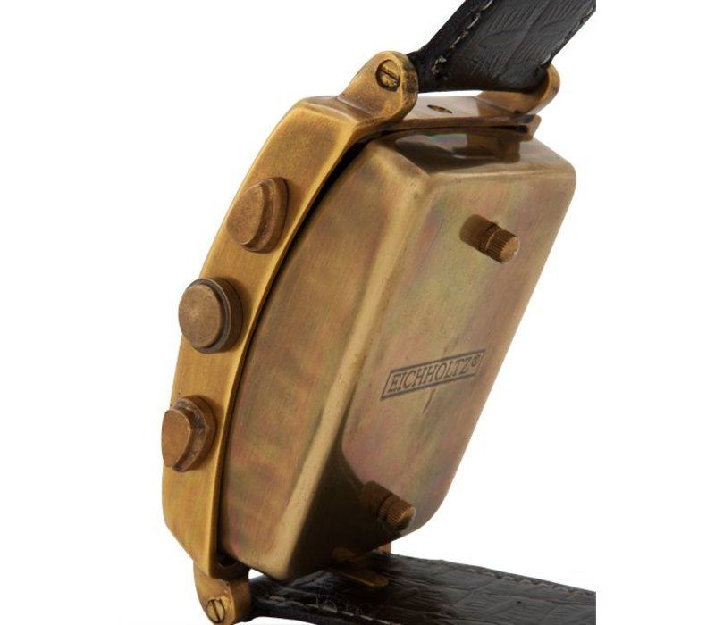 Desk clock 'Schindler'  in luxury design 10 cm