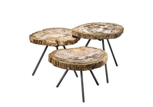EICHHOLTZ 'De Soto' set of 3 coffee tables