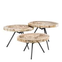 Coffee tables 'De Soto set' of 3