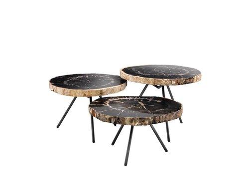 EICHHOLTZ Coffee tables De Soto set of 3 - Dark