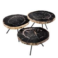 Coffee tables 'De Soto' set of 3 - Dark