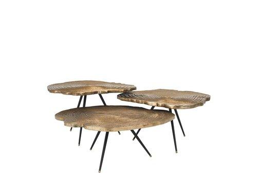 EICHHOLTZ Coffee tables Quercus set of 3