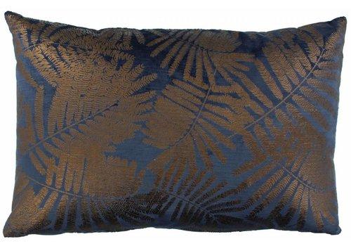 CLAUDI Design Kissen Ester Indigo Bronze