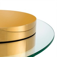 Coffee table 'Equilibre' -  Gold