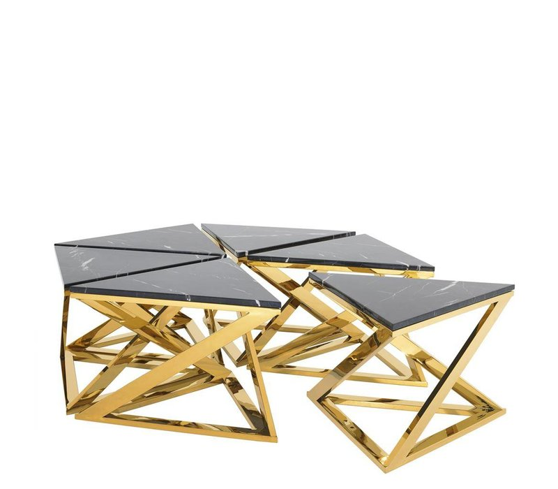 Couchtisch 'Galaxy' set of 6 Gold | 45,5 cm