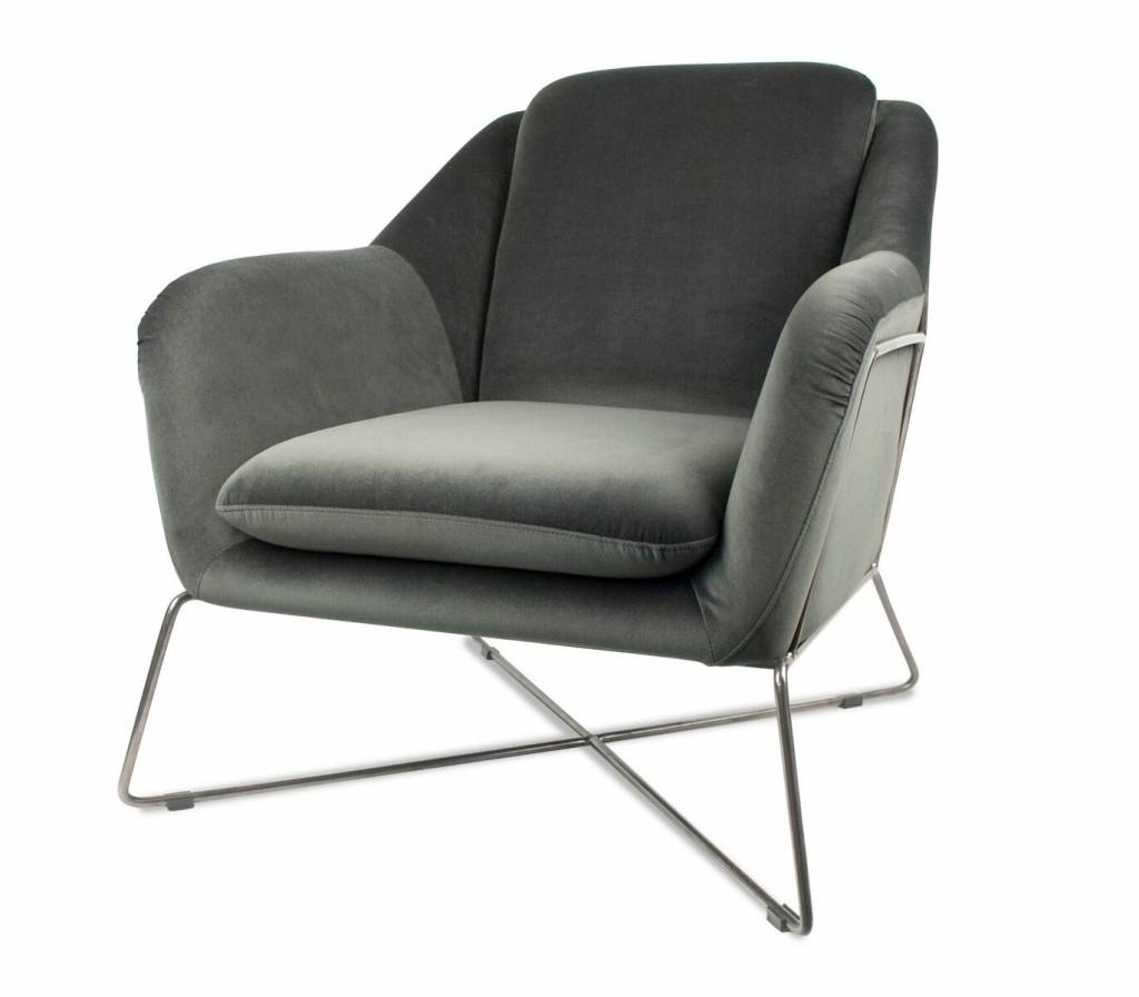 Excellent Dome Deco Lounge Chair Finley Met Voetenbank Light Grey Melange Creativecarmelina Interior Chair Design Creativecarmelinacom