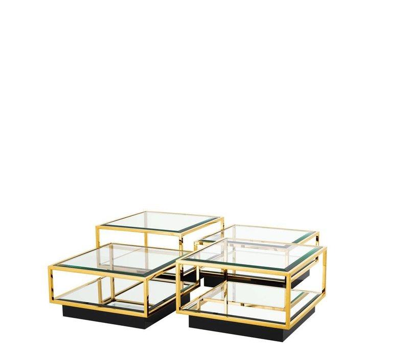 Couchtisch 'Tortona' 4er Set Gold