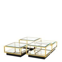 Couchtisch 'Tortona' set of 4 | 65 cm Gold