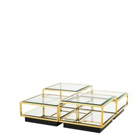 'Tortona' set of 4 Gold coffee tables