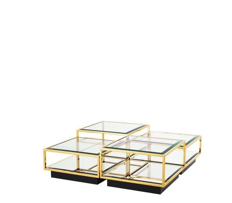 'Tortona' set of 4 Gold coffee tables