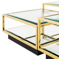 Eichholtz Tortona Set Of 4 Gold Coffee Tables