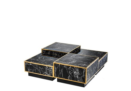 EICHHOLTZ Coffee table 'Concordia' set of 4