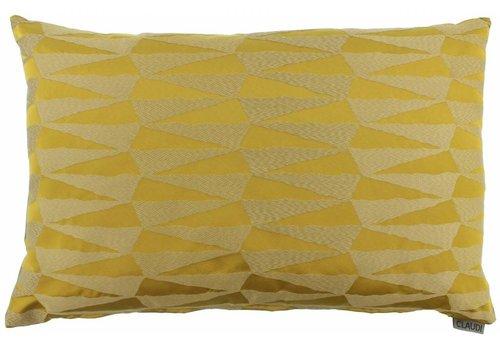 CLAUDI Chique Cushion Brunella Mustard