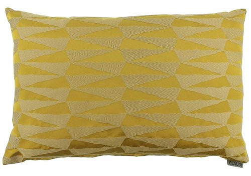 CLAUDI Cushion Brunella Mustard
