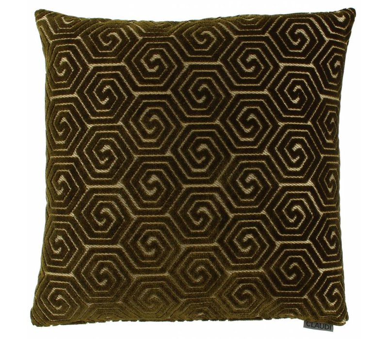 Cushion Lucie in color Dark Gold