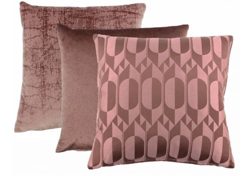 CLAUDI Chique Cushion combination Ash Rose: Midde, Perla, Izett