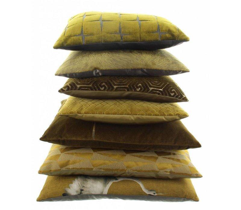 Sierkussen Assane in de kleur Mustard
