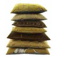 Cushion Brunella in color Mustard