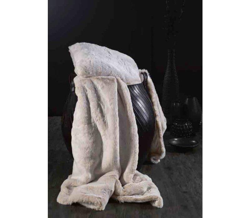 Faux fur plaid 'White Lion' 140cm x 200cm