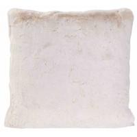 Cushion faux fur White Lion
