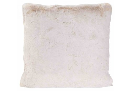 Winter-Home Cushion faux fur White Lion