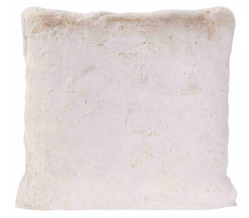 Kussen bont 'White Lion' in 45cm x 45cm