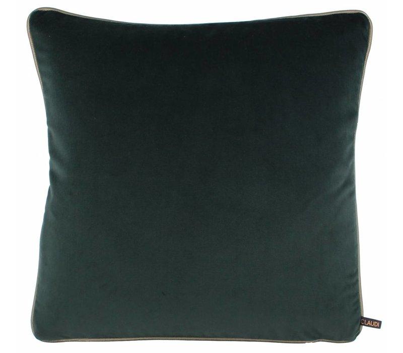 Cushion Saffi Grey/Petrol with Gold piping