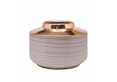 Dome Deco Vase ceramics 'Rose Gold' low model