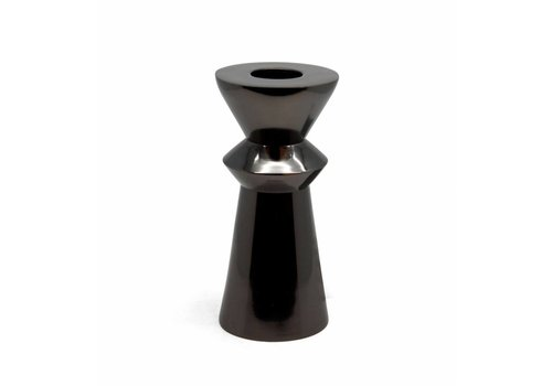 Dome Deco Tealight 'Pillar' black - medium