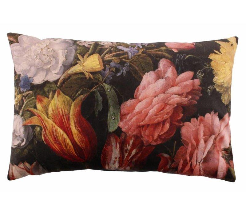 Cushion Bibi Flowers Ash Rose