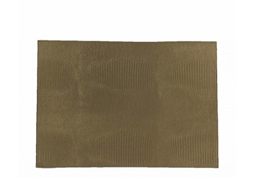 Dome Deco Placemat 'Lizard' Taupe - set of 2