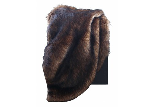 CLAUDI Chique Faux fur plaid Bronze