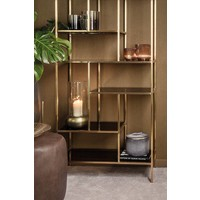 Design windlicht in de kleur Gold, maat Small