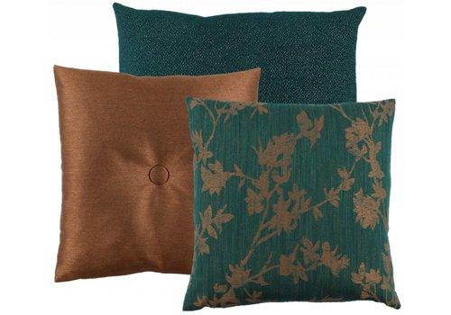 CLAUDI Chique Cushion combination Petrol/Copper: Atli, Celio, Liz