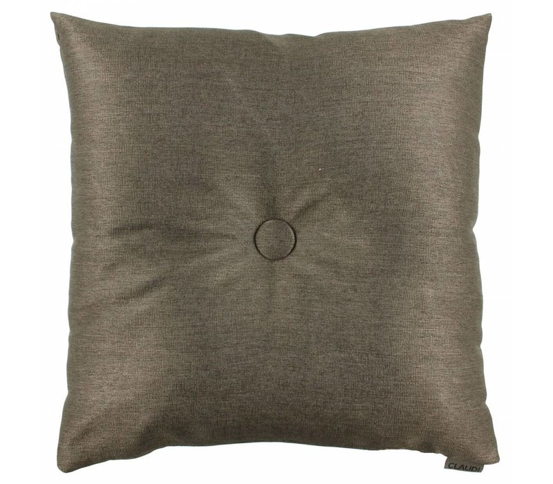 Sierkussen  Celio Dark Taupe  met XL button