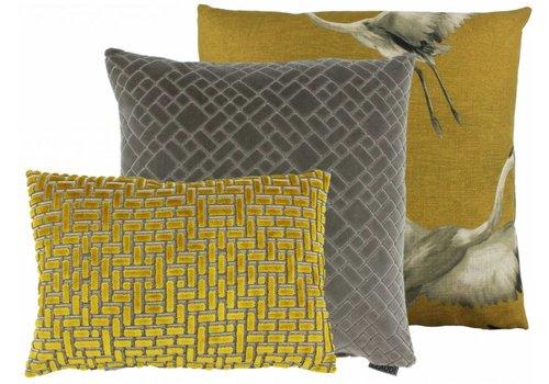 CLAUDI Chique Cushion combination Mustard/Sand: Aza, Assane, Ebbe