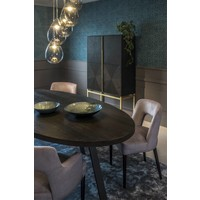 Dining chair black - Shell Taupe with arms