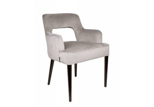 Dome Deco Dining chair black - Shell Cream with arms