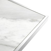 Design console table 'Omari' with white marble table top