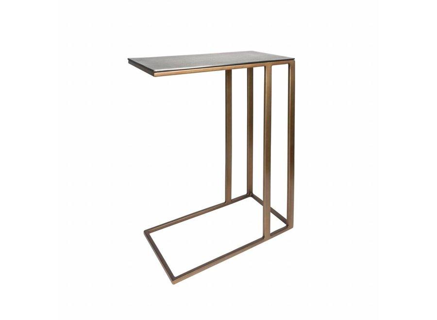Rectangular End table Gold Blue