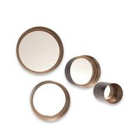 Runder Spiegelsatz von 4 Stück in der Farbe Bronze