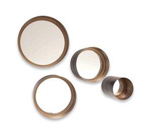 Ronde Spiegel Metaal : Ronde spiegel set van 4 bronze wilhelmina designs
