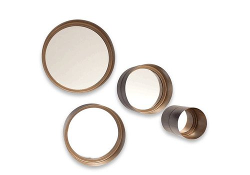 Dome Deco Round mirrors 'Bronze' - S4